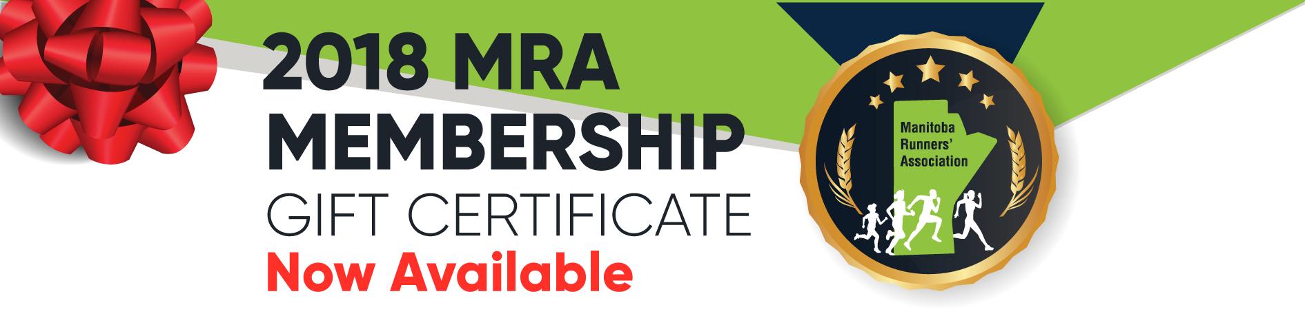 MRA Membership Gift Certificate