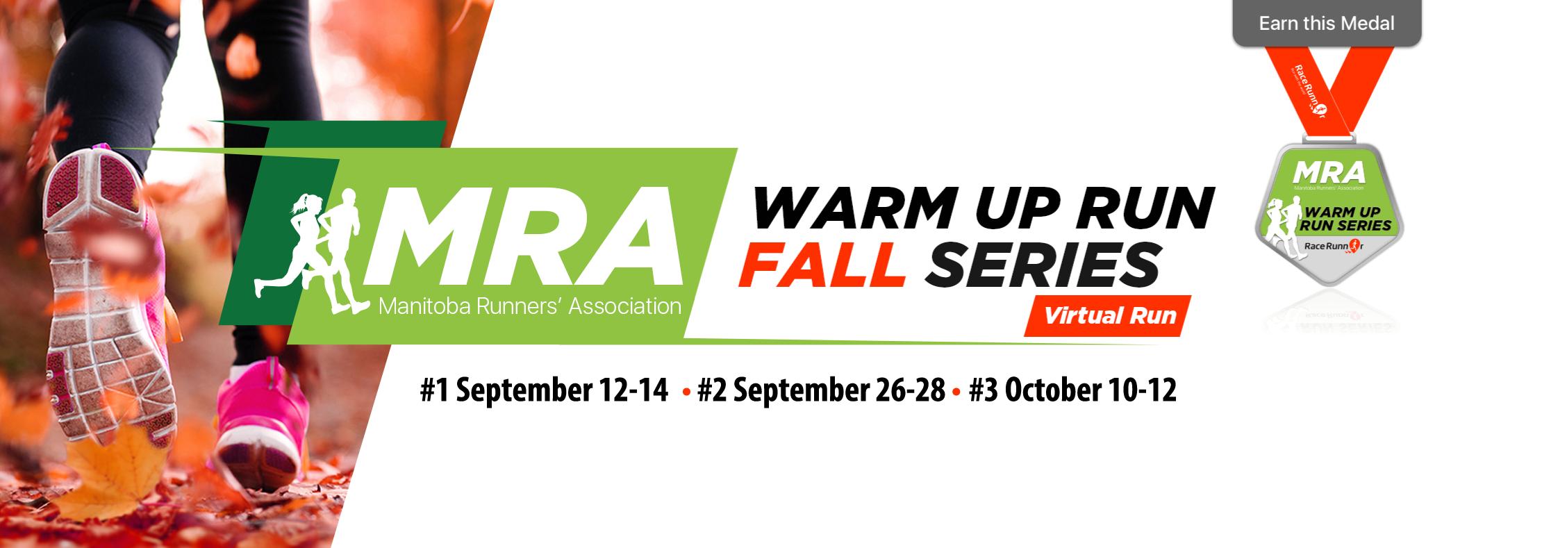 Manitoba Runners Association 2018 Fall Series Virtual Runs